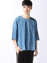 【BROWNY VIN】(M)デニムプルオーバーシャツ