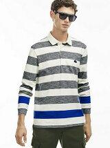 (M)グラフィカルボーダーポロシャツ(長袖)