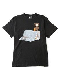 BEAMS T 【SPECIAL PRICE】BEAMS T / SK8LUMP BEAR TEE ビームスT カットソー Tシャツ ブラック ホワイト