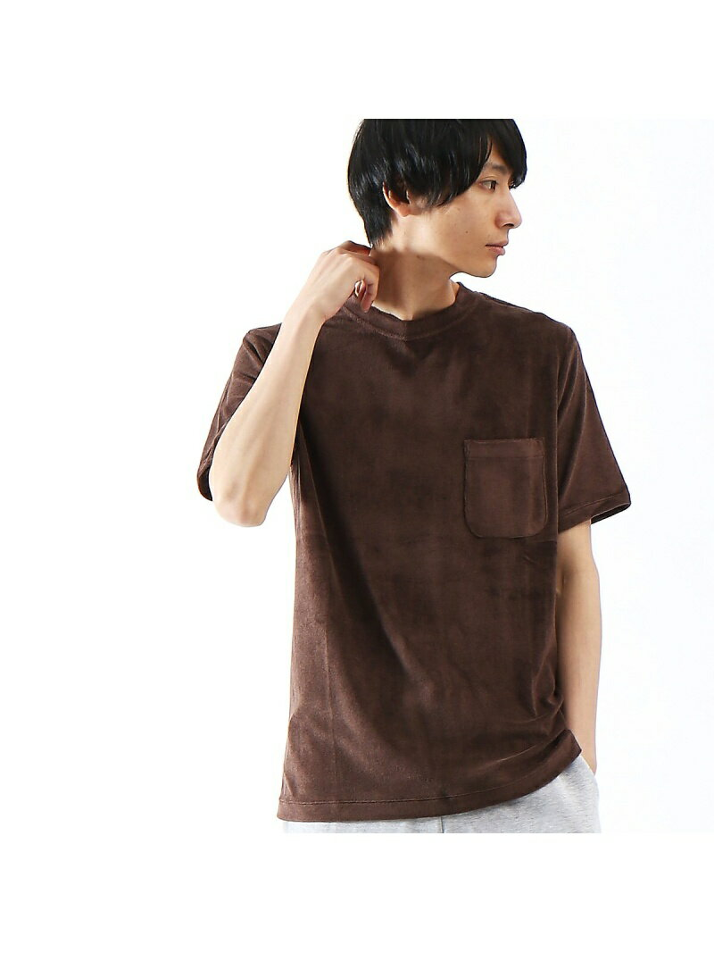 【SALE/60%OFF】ABAHOUSE LASTWORD COOL MODALパイルポケットTシャツ アバハウス カットソー【RBA_S】【RBA_E】