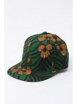 アフリカンフラワー柄CAP