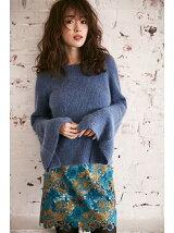 刺繍レースタイトスカート