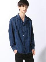 【BROWNY VIN】(M)デニムオープンカラーシャツ