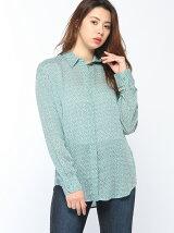 (W)モダールプリントシャツ・ブラウス