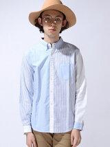 【WEGO】(M)オックスBDシャツ