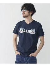 MALIBUプリントVネックTシャツ SS