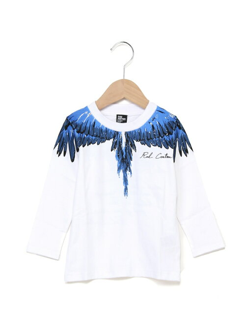 天竺羽プリント長袖Tシャツ