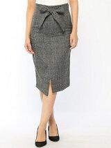 (W)Dチェックラップスカート