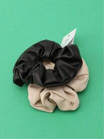 WEGO (L)2Pフェイクレザーシュシュ ウィゴー 帽子/ヘア小物 ヘアゴム