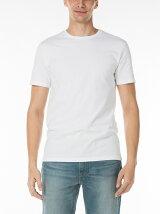 2パッククルーネックTシャツ-ホワイト
