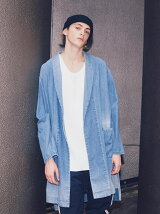 <monkey time> 8oz DENIM SHAWL GOWN/ガウン