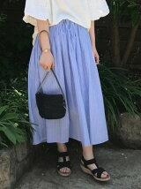 【『リンネル』2017/6月号掲載】ボイルEASYギャザースカート