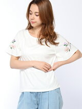 控えめ刺繍Tシャツ