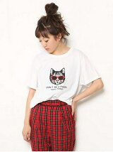 SUNGLASS CAT Tシャツ