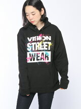 (W)【VISION STREET WEAR*BE@RBRICK】BIGロゴパーカー