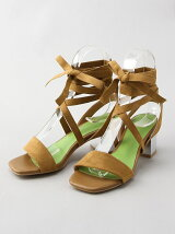 LOW HEEL LACE UP SANDAL