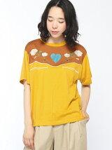 【BROWNY】(L)ウエスタン刺繍Tシャツ