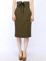 【Dukkah】(L)コルセットベルトラップタイトスカート
