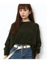 【WEB限定】度違い天竺ハイネックニットプルオーバー