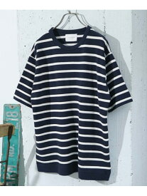 【SALE/40%OFF】DOORS 鹿の子ショートスリーブTシャツ アーバンリサーチドアーズ カットソー Tシャツ ホワイト ブルー