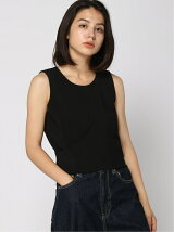 GUESS/(W)ELASTANE WOVEN CROP TOP