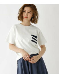 BASECONTROL 【WEB限定】ボーダースター異素材ポケットTシャツ ベース ステーション カットソー Tシャツ ホワイト グレー ネイビー ブラック