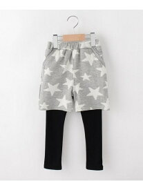 【80-120cm】星柄ふくれジャカードパンツ×レギンスSET シューラルー パンツ/ジーンズ