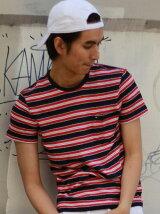 (M)Hilfiger Denim/ストライプクルーネックTシャツ