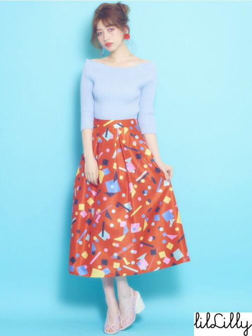オリジナルグラフィックフレアスカート