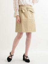 ウエストリボンベルト台形スカート