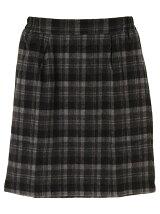 タック入りチェック柄スカート