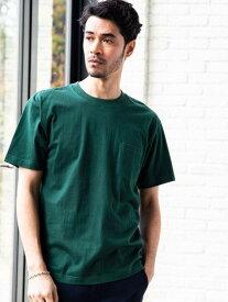 【SALE/60%OFF】UNITED ARROWS green label relaxing 別注[ヘインズ]HanesSCBEEFYGLRポケットTシャツ/ポケT ユナイテッドアローズ グリーンレーベルリラクシング カットソー Tシャツ グリーン ホワイト ブラック グレー ベージュ