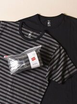 Hanes×SHIPS:別注'Colors'RECOVER(R)クルーネックTシャツ(BORDER&SOLIDSET)(2枚組)