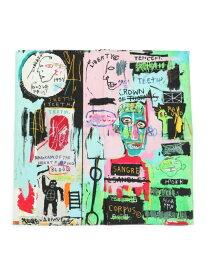 niko and... 【バスキア】コラボ スカーフ ニコアンド ファッショングッズ スカーフ/バンダナ グリーン ブルー ホワイト
