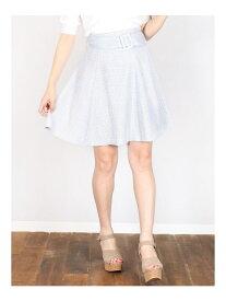 【SALE/49%OFF】dazzlin 【E】スプリングツイードスカート ダズリン スカート フレアスカート ブルー グレー ピンク【送料無料】
