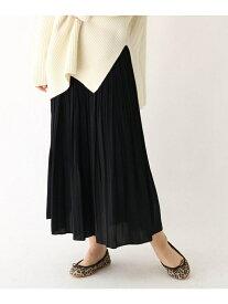 DRESSTERIOR 【洗える】デシンワッシャープリーツスカート ドレステリア スカート ロングスカート ブラック カーキ レッド【送料無料】