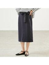 リボン付きスリットスカート