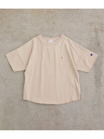 【SALE/44%OFF】ROPE' PICNIC 【ROPE' PICNIC KIDS】【Champion】ワイドTシャツ ロペピクニック カットソー カットソーその他 ベージュ ブルー ピンク