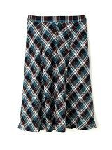 ◆大きいサイズ◆タータンチェックフレアスカート