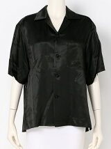 SATIN OPEN COLLAR SHIRT