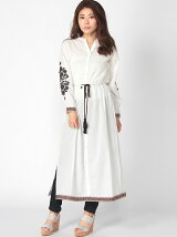 Tirolean embroidery shirt one piece
