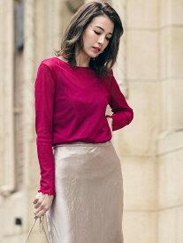 【SALE/70%OFF】VICKY シースルーキャミ付きプルオーバー ビッキー カットソー Tシャツ ピンク ブラック ベージュ
