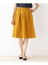 ◆形状記憶グログランミモレ丈スカート