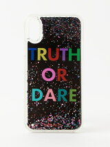 iPhoneケース(iPhoneX対応)-BLUE TRUTH OR DARE LIQUID CASE-