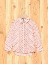 (K)モスリン小花カラーシャツDT1