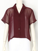 ciffon over shirt TOP