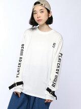 【JUNIOR SWEET】(L)スリーブベルトロゴロングTシャツ