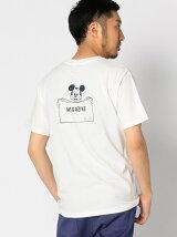 Disney ビーミング by ビームス / ミッキーマウス バックプリント Tシャツ BEAMS ビームス
