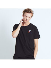 ABAHOUSE LASTWORD 【BRICKTOWN】ワンポイントTシャツ(SPACESHIP) アバハウス カットソー【送料無料】