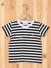 agnes b. ENFANT ENFANT/(K)SCM5 E TS キッズ ボーダーTシャツ アニエスベー カットソー キッズカットソー ブラック【送料無料】